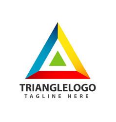 Triangle logo template design vector