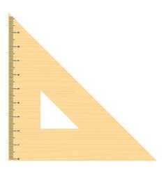 triangular ruler icon flat style vector image