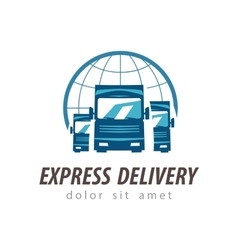 truck logo design template shipping or vector image