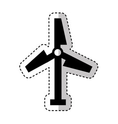 Turbine air energy icon vector
