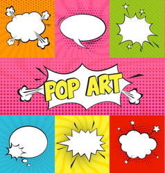 variety pop art templates vector image