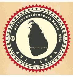 Vintage label-sticker cards of Sri Lanka vector image