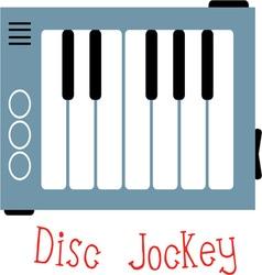 Disc Jockey vector image vector image