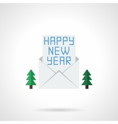 Happy New Year letter flat color icon vector image vector image