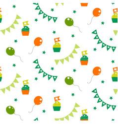 irish celebration party seamless pattern vector image vector image