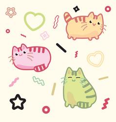kawaii style cat kitten kitty pet on vector image vector image