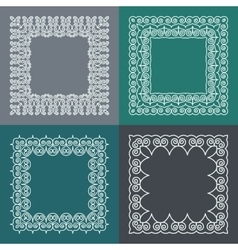 Set of simple and graceful monogram frame with vector image
