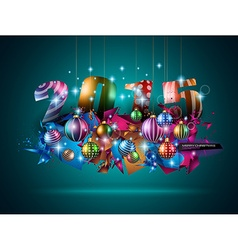 2015 Christmas Colorful Background with a vector image
