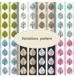 Flower patterns set vector image vector image