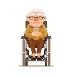 happy smiling old man character vector image