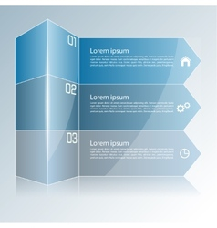 Modern colorful template in the form of a box and vector image
