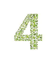 Spring green leaves eco number 4 vector image vector image