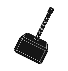 Viking battle hammer icon in black style isolated vector image vector image