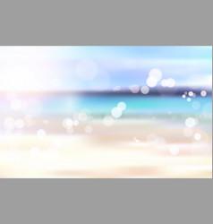 beautiful blurred beach seaside bokeh landscape vector image vector image
