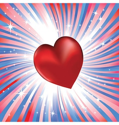 heart valentine day vector image vector image