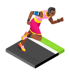 Marathon Runners Fitness Working Out Isometric vector image vector image