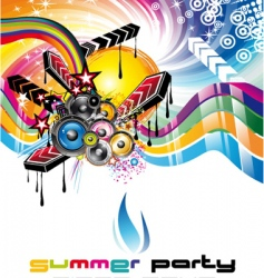 music background for discoteque flyers vector image
