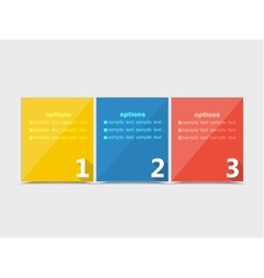 Numbered Banners vector image vector image