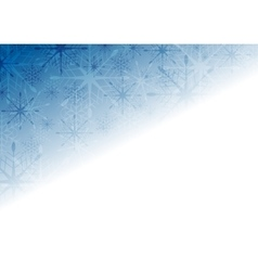Shiny blue Christmas holiday background vector image vector image