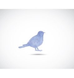 Watercolor titmouse vector image