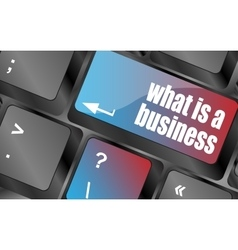 what is business button on computer keyboard key vector image