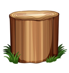 A stump with weeds vector image vector image