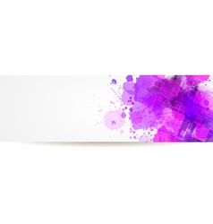 banner watercolor squares vector image vector image