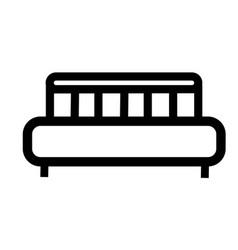 bed icon vector image vector image