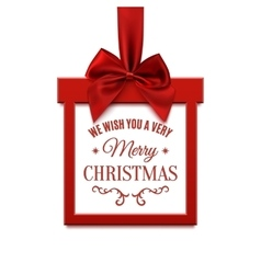 Big Christmas sale square banner in form of gift vector image vector image