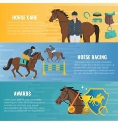Horse sport banners vector