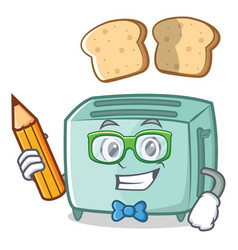 student toaster character cartoon style vector image vector image