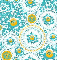 Vintage shabby Chic Seamless ornament pattern with vector image