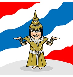 Welcome to Thailand people vector image vector image