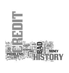 What is a bad credit history text word cloud vector