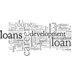 a guide to career development loans vector image
