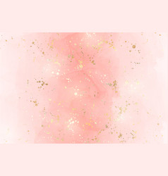 Abstract pink liquid watercolor background with vector