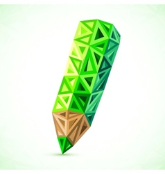 Abstract triangles color pencil vector