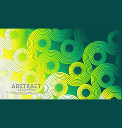Abstract wave lines and round shapes background vector