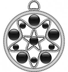 Algerian pendant vector