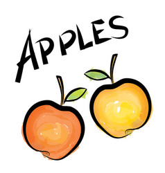 Apple sign isolated apple fruit tag fresh farm vector