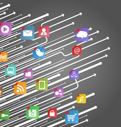 Apps icons vector image