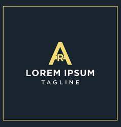 Ar monogram logo vector