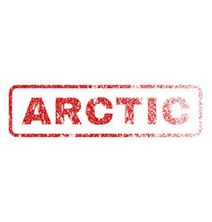 arctic rubber stamp vector image