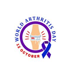 Arthritis day logo vector