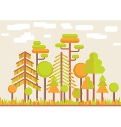 Autumn tree forest flat vector