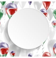 Azerbaijani national flag vector image
