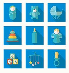 Babies set vector