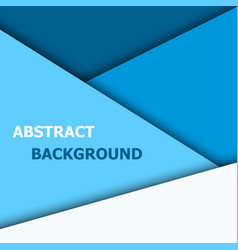 blue overlap layer for text and background design vector image