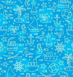 blue sea pattern vector image