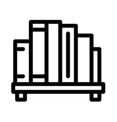 Bookshelf icon outline vector